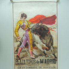 Affiches Tauromachie: CARTEL DE TOROS PLAZA DE TOROS MADRID - GRAN CORRIDA DE NOVILLOS AÑO 1982. Lote 219382446
