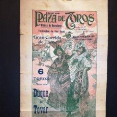 Carteles Toros: CARTEL DE TOROS - GAONA - POSADA - LIMEÑO - 1914 - 20 X 35.50 CM. Lote 219386313