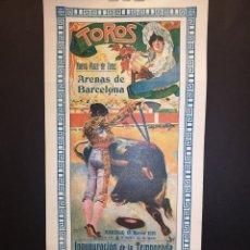 Carteles Toros: CARTEL DE TOROS - PACOMIO - GALLITO - BELMONTE - 1916 - 38.50 X 18. 50CM. Lote 219386868