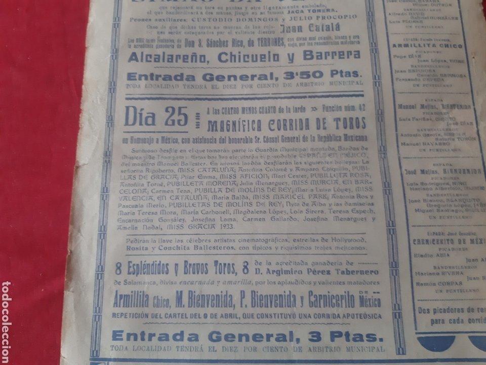 Carteles Toros: Cartel toros Plaza Monumental Barcelona 1933 dos grandiosas corridas qué toros fiestas de La Merced - Foto 6 - 219421616