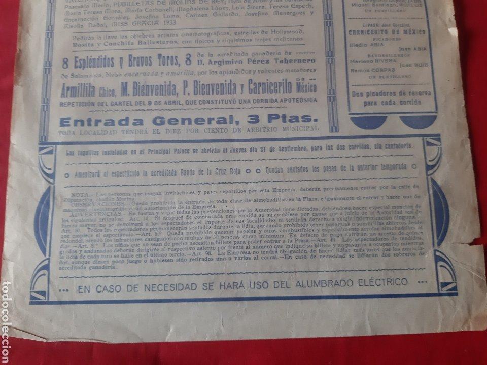 Carteles Toros: Cartel toros Plaza Monumental Barcelona 1933 dos grandiosas corridas qué toros fiestas de La Merced - Foto 7 - 219421616