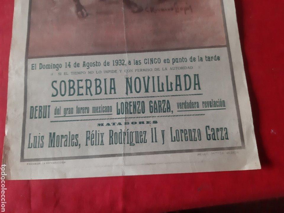 Carteles Toros: Cartel de toros Plaza Monumental de Barcelona 1932 soberbia novillada - Foto 4 - 219423656