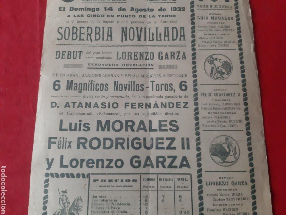 Carteles Toros: Cartel de toros Plaza Monumental de Barcelona 1932 soberbia novillada - Foto 6 - 219423656