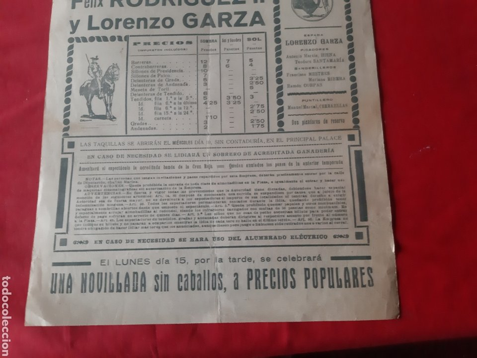 Carteles Toros: Cartel de toros Plaza Monumental de Barcelona 1932 soberbia novillada - Foto 7 - 219423656