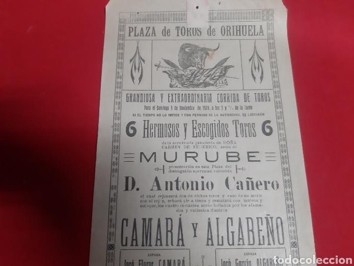 Carteles Toros: Cartel plaza de toros de Orihuela año 1924 grandiosa y extraordinaria corrida de toros - Foto 2 - 219427650