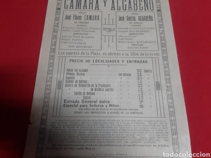 Carteles Toros: Cartel plaza de toros de Orihuela año 1924 grandiosa y extraordinaria corrida de toros - Foto 3 - 219427650