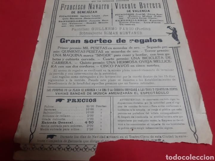 Carteles Toros: Cartel plaza de toros de Orihuela Alicante año 1926 gran acontecimiento taurino - Foto 4 - 219429785