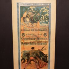 Carteles Toros: CARTEL DE TOROS - PASTOR - GALLITO - BELMONTE - 1916 - 21 X 41.50 CM. Lote 219492332