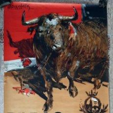 Carteles Toros: CARTEL TOROS BILBAO 1967 GRAN FORMATO GRANDE CORRIDAS DE FERIA LITOGRAFIA ORIGINAL. Lote 220080080