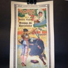 Carteles Toros: CARTEL DE TOROS - GALLO - GALLITO - ALCALAREÑO - 1916 - 18.50 X 39 CM. Lote 221108498