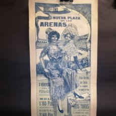 Carteles Toros: CARTEL DE TOROS - MANOLETE - VASQUEZ - 1914 NUEVA PLAZA DE LAS ARENAS - 49.50 X 21.50 CM. Lote 221248000