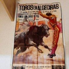 Carteles Toros: IMPRESIONANTE CARTEL DE TOROS ALGECIRAS MIGUELIN. Lote 218857160