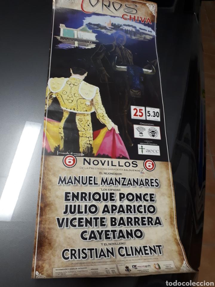 POSTER UNICO.TOROS.ENRIQUE PONCE.CAYETANO RIVERA.JULIO APARICIO.VICENTE BARRERA.21 SEPT.2011. (Coleccionismo - Carteles Gran Formato - Carteles Toros)