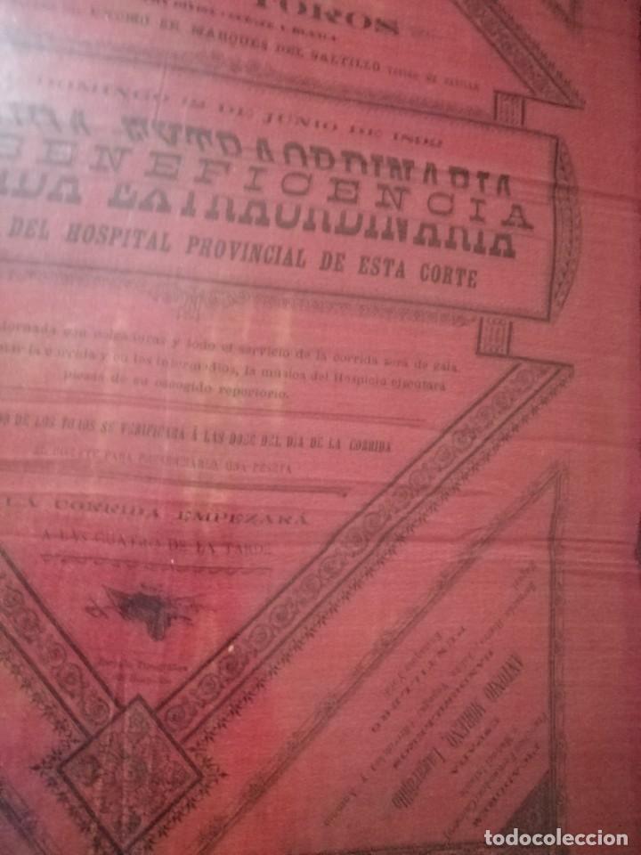 Carteles Toros: Cartel plaza de toro de Madrid s de seda corrida extraordinaria 8Toros - Foto 3 - 221720622