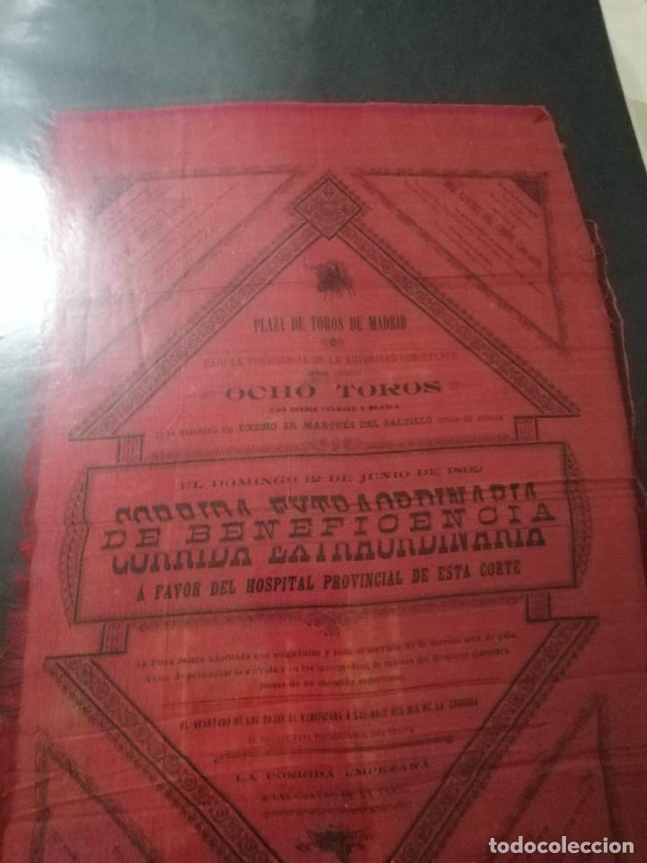 CARTEL PLAZA DE TORO DE MADRID S DE SEDA CORRIDA EXTRAORDINARIA 8TOROS (Coleccionismo - Carteles Gran Formato - Carteles Toros)