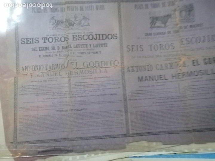 CARTEL TOROS PUERTOBDE SANTAMARIA SEIS TOROS ESCOJIDOS (Coleccionismo - Carteles Gran Formato - Carteles Toros)