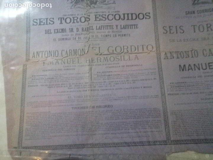 Carteles Toros: Cartel toros Puertobde Santamaria Seis toros escojidos - Foto 2 - 221721742
