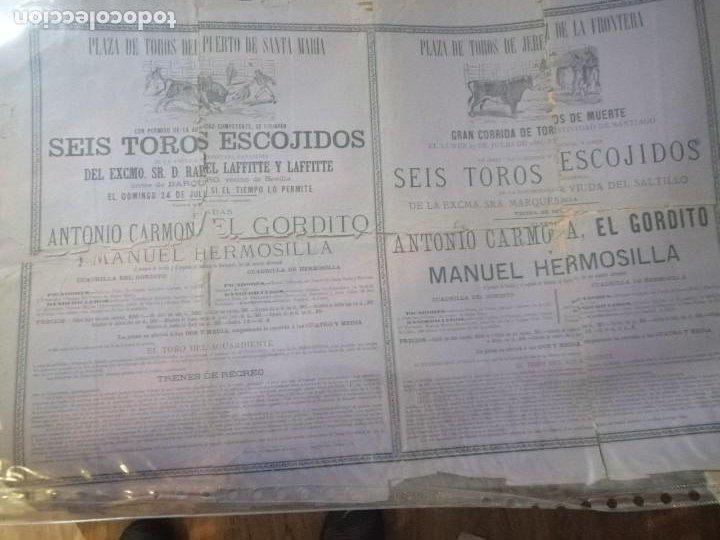 Carteles Toros: Cartel toros Puertobde Santamaria Seis toros escojidos - Foto 3 - 221721742