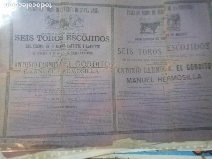 Carteles Toros: Cartel toros Puertobde Santamaria Seis toros escojidos - Foto 4 - 221721742