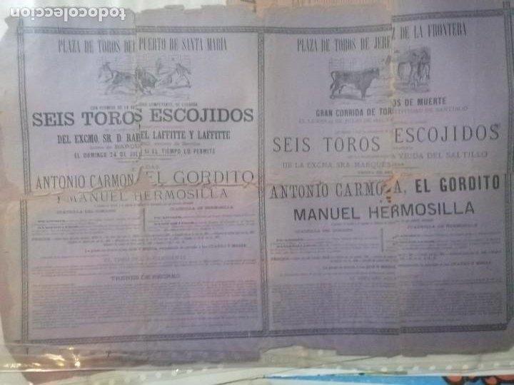 Carteles Toros: Cartel toros Puertobde Santamaria Seis toros escojidos - Foto 6 - 221721742
