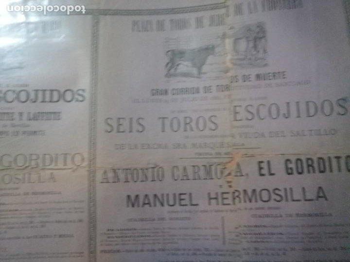 Carteles Toros: Cartel toros Puertobde Santamaria Seis toros escojidos - Foto 8 - 221721742