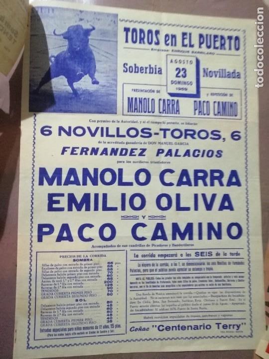 CARTEL CORRIDA DEL PUERTO TOROS CON SU ENTRADA (Coleccionismo - Carteles Gran Formato - Carteles Toros)