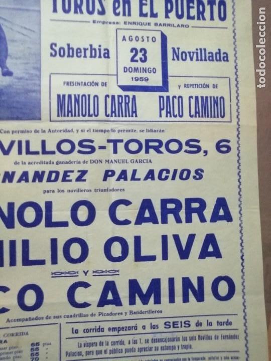 Carteles Toros: Cartel corrida del puerto toros con su entrada - Foto 2 - 221723641