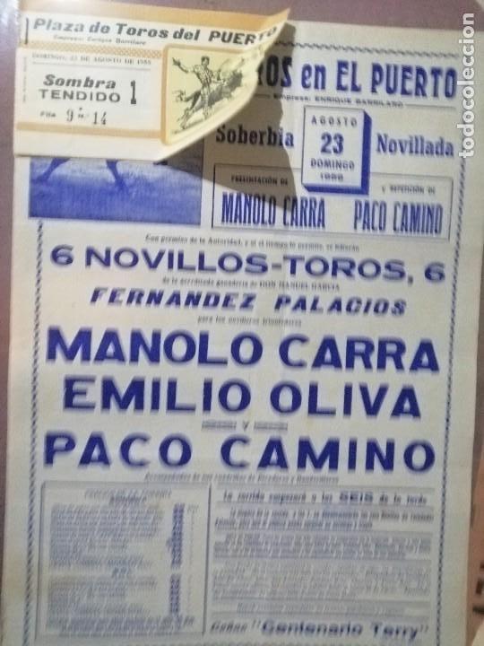 Carteles Toros: Cartel corrida del puerto toros con su entrada - Foto 3 - 221723641