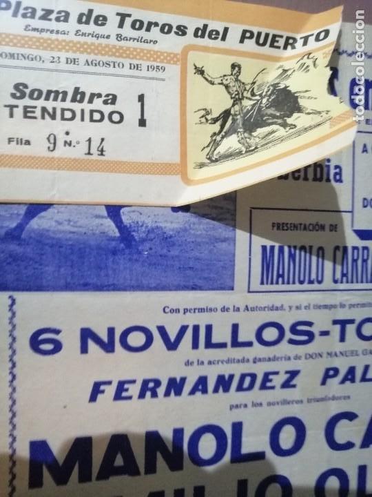 Carteles Toros: Cartel corrida del puerto toros con su entrada - Foto 4 - 221723641