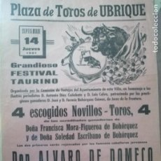 Carteles Toros: CARTEL DE TOROS ANTIGUO. Lote 221732505