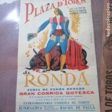 Carteles Toros: CARTEL PLAZA DE TOROS DE RONDA CORRIDA GOLLEZCA. Lote 221792858