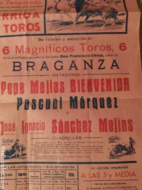 Carteles Toros: Cartel plaza toros Sevilla 1941 - Foto 2 - 221884260