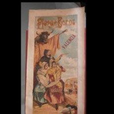 Carteles Toros: PLAZA DE TOROS DE VALENCIA. CON PERMISO DE LA AUTORIDAD TRES GRANDES CORRIDAS. JULIO 1896. Lote 222121320
