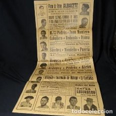 Carteles Toros: AÑO 1961.ALBACETE.CARTEL DE CORRIDAS DE FERIA.TOROS PLAZA.ROMERO,CORDOBES.VITI.PUERTA.ORDOÑEZ.CAMINO. Lote 222469261