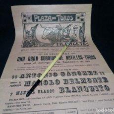 Carteles Toros: AÑO 1918. ALBACETE.CARTEL TOROS. PLAZA. Lote 222471097