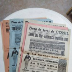 Carteles Toros: LOTE DE 9 CARTELES DE TOROS ( AÑOS 1968 Y 1969 ). Lote 222613023