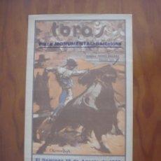 Carteles Toros: REAPARICION DE RAFAEL GÓMEZ,EL GALLO EN LA MONUMENTAL DE BARCELONA EL DOMINGO 18 DE AGOSTO DE 1935. Lote 222863151