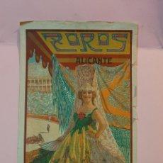 Affissi Tauromachia: CARTEL DE LA PLAZA DE TOROS DE ALICANTE 1928 EN BENEFICIO DE LA MARINA ESPAÑOLA. Lote 222985418
