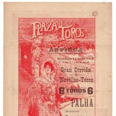 Carteles Toros: CARTEL PLAZA DE TOROS DE BARCELONA 1913. FUENTES, MERINO Y BARQUERITO DE CÓRDOBA.. Lote 224327213