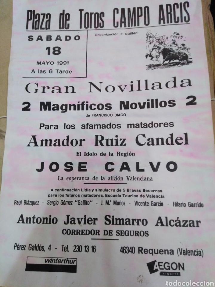 CARTEL PLAZA DE TOROS CAMPO ARCIS(REQUENA)MAYO 1991-30X21 (Coleccionismo - Carteles Gran Formato - Carteles Toros)