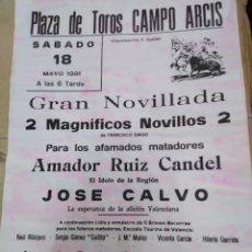 Affissi Tauromachia: CARTEL PLAZA DE TOROS CAMPO ARCIS(REQUENA)MAYO 1991-30X21. Lote 225149545