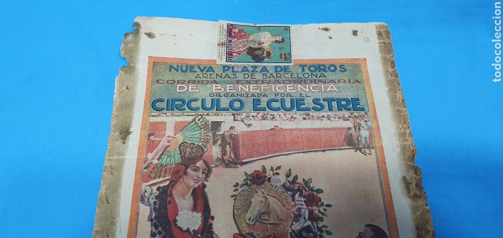Carteles Toros: CARTELERA TAURINA - NUEVA PLAZA DE TOROS DE BARCELONA - DOMINGO 23 DE MAYO DE 1915 - Foto 2 - 225240838