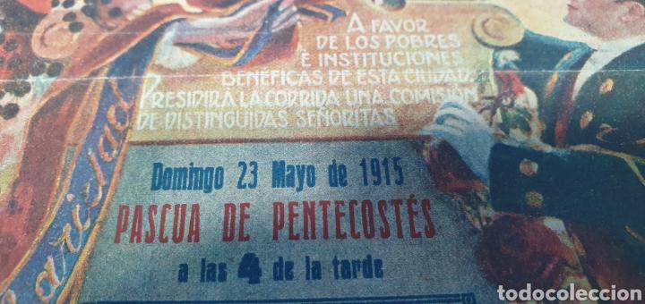 Carteles Toros: CARTELERA TAURINA - NUEVA PLAZA DE TOROS DE BARCELONA - DOMINGO 23 DE MAYO DE 1915 - Foto 4 - 225240838