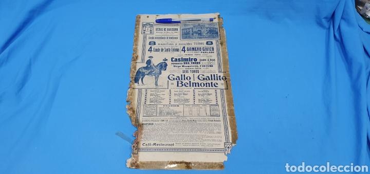 Carteles Toros: CARTELERA TAURINA - NUEVA PLAZA DE TOROS DE BARCELONA - DOMINGO 23 DE MAYO DE 1915 - Foto 6 - 225240838