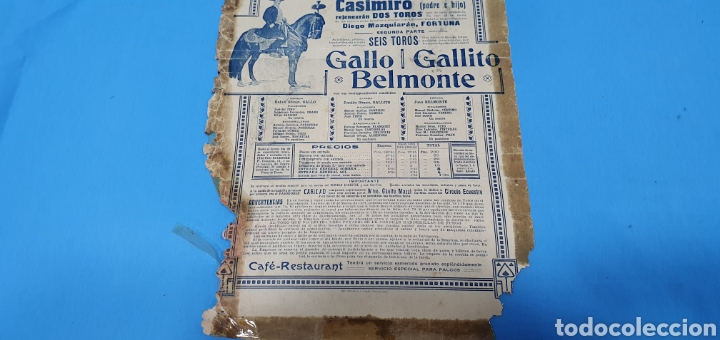 Carteles Toros: CARTELERA TAURINA - NUEVA PLAZA DE TOROS DE BARCELONA - DOMINGO 23 DE MAYO DE 1915 - Foto 8 - 225240838