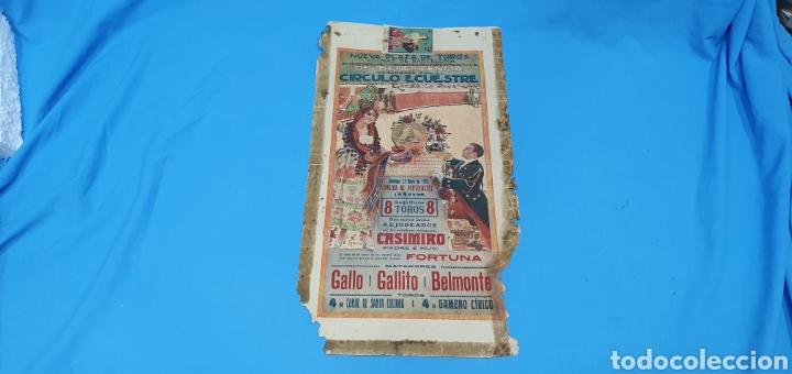 CARTELERA TAURINA - NUEVA PLAZA DE TOROS DE BARCELONA - DOMINGO 23 DE MAYO DE 1915 (Coleccionismo - Carteles Gran Formato - Carteles Toros)