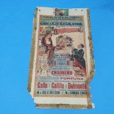 Carteles Toros: CARTELERA TAURINA - NUEVA PLAZA DE TOROS DE BARCELONA - DOMINGO 23 DE MAYO DE 1915. Lote 225240838