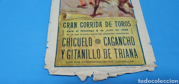 Carteles Toros: CARTELERA TAURINA - TOROS EN MURCIA- DOMINGO 8 DE JULIO 1928 CHICUELO/CAGANCHO Y GITANILLO TRIANA - Foto 3 - 225242686