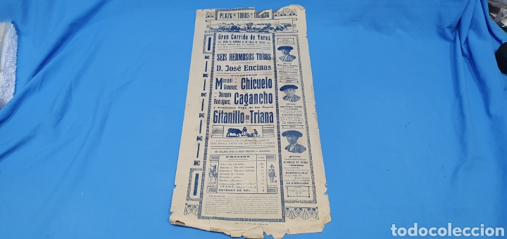 Carteles Toros: CARTELERA TAURINA - TOROS EN MURCIA- DOMINGO 8 DE JULIO 1928 CHICUELO/CAGANCHO Y GITANILLO TRIANA - Foto 6 - 225242686