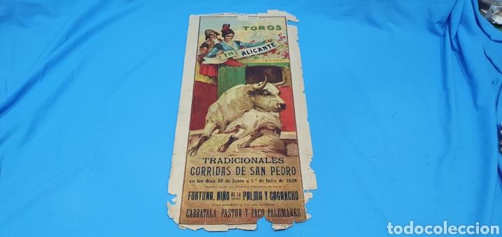 CARTELERA TAURINA-TOROS EN ALICANTE - CORRIDAS SAN PEDRO - 29 JUNIO Y 1 JULIO 1 (Coleccionismo - Carteles Gran Formato - Carteles Toros)